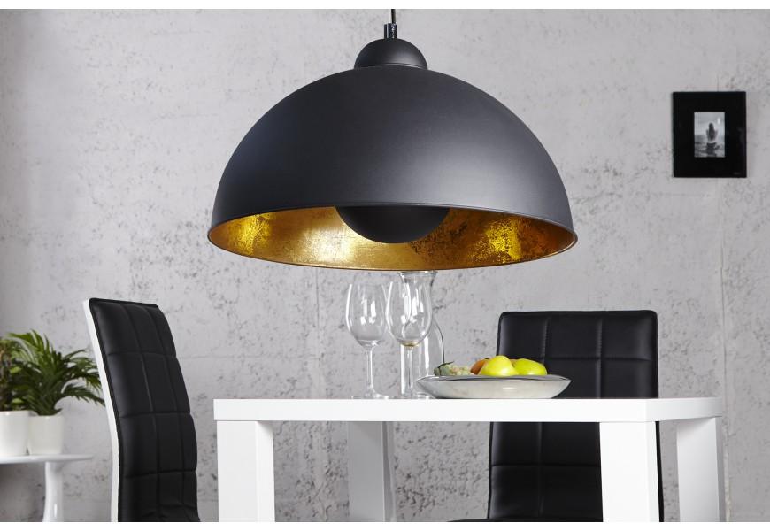 Moderné elegantné závesné svietidlo Studio čierno-zlaté