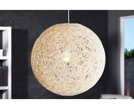 Štýlové moderné závesné svietidlo Cocoon 60cm biele