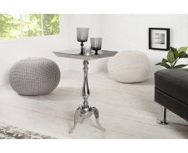 Štýlový luxusný odkladací stolík Jardin 55cm strieborný