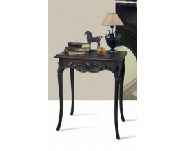 Rustikálny luxusný príručný stolík Nuevas formas s vyrezávaním 70cm