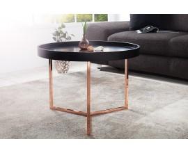 Štýlový konferenčný stolík Modul 60cm čierna/meď