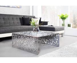 Dizajnový konferenčný stolík IDEAL 60cm strieborný