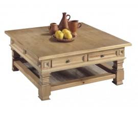 Koloniálny konferenčný stolík Nuevas formas z dreva so zásuvkami 120cm