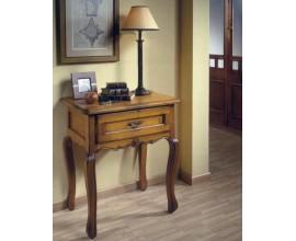 Rustikálny drevený príručný stolík Nuevas formas so zásuvkou 70cm