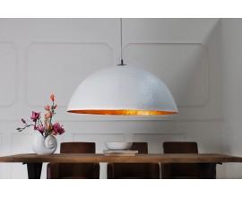 Moderná závesná lampa Glow 50cm bielo-zlatá