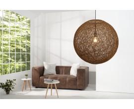 Štýlové závesné svietidlo Cocoon prírodne hnedá 60cm