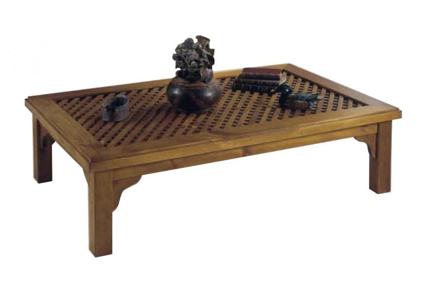 Luxusný drevený konferenčný stolík Nuevas formas s vyrezávanými ornamentami
