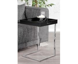 Moderný štýlový príručný stolík Ciano čierny