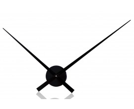 Moderné hodiny Little Big Time Ø 80cm čierna