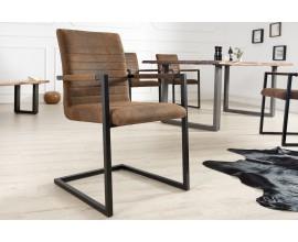 Štýlová retro stolička Imperial hnedá