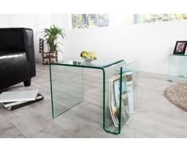 Dizajnový sklenený konferenčný stolík Ghost 50cm