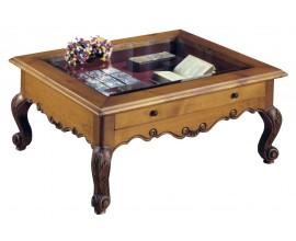 Rustikálny konferenčný stolík Nuevas formas so zásuvkou 100cm