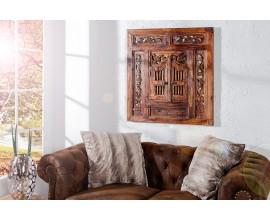 Dizajnové dekoračné zrkadlo Secret Window 70cm hnedé
