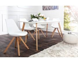 Dizajnová retro stolička Scandinavia biela