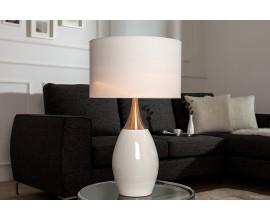 Moderná štýlová stolná lampa Carla 60cm biela