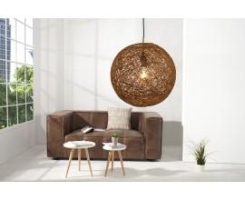 Dizajnové moderné závesné svietidlo Cocoon hnedé