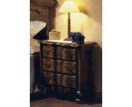 Rustikálny luxusný nočný stolík Nuevas formas s tromi zásuvkami 68cm