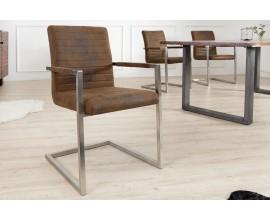 Moderná štýlová jedálenská stolička Imperial hnedá