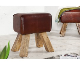 Originálna stolička Bock II 45cm koža