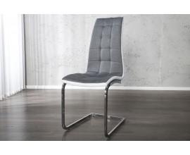 Dizajnová jedálenská stolička London II. šedobiela