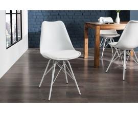 Dizajnová moderná stolička Scandinavia biela