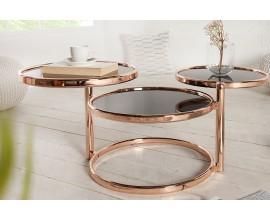 Luxusný štýlový odkladací stolík Art Deco 3 úrovne
