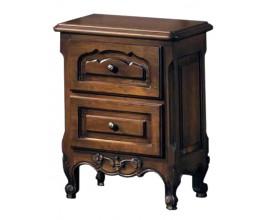 Rustikálny nočný stolík Nuevas formas s dvomi zásuvkami zásuvkami 62cm