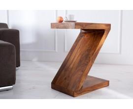 Dizajnový jedinečný príručný stolík Sheesham 45cm