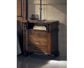 Rustikálny nočný stolík Nuevas formas s tromi zásuvkami a poličkou 64cm