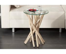 Štýlový jedinečný odkladací stolík Driftwood 35cm