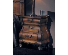 Rustikálny exkluzívny hnedý masívny nočný stolík Nuevas formas so zásuvkami 60cm