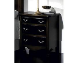 Rustikálny elegantný masívny nočný stolík Nuevas formas s tromi priestrannými zásuvkami 66cm