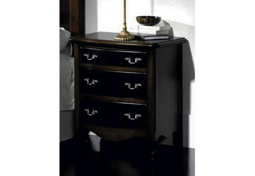 Nadčasový elegantný masívny nočný stolík Nuevas formas v rustikálnom prevedení na nožičkách