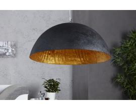 Moderná čierno zlatá sklolaminátová lampa Glow
