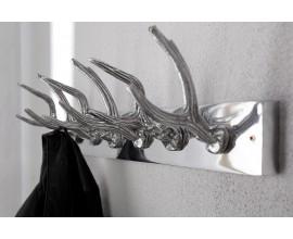 Luxusný dizajnový nástenný vešiak Jeleň 50cm strieborný