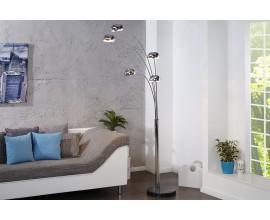 Dizajnová moderná stojaca lampa Five Lights chrómová