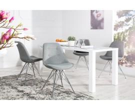 Dizajnová stolička Scandinavia retro sivá