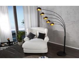 Dizajnová jedinečná stojaca lampa Five Lights čierno-zlatá