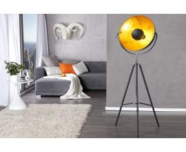 Štýlová stojaca lampa Big štúdio 160cm čierna / zlatá