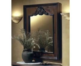 Rustikálne luxusné nástenné obdĺžnikové zrkadlo Nuevas formas v hrubom masívnom ráme s motívom 105cm
