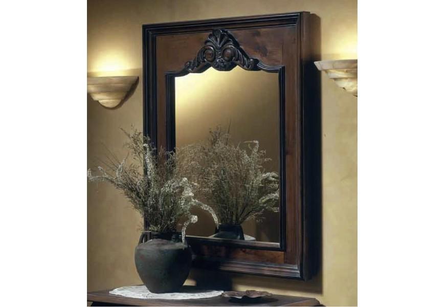 Dizajnové nástenné obdĺžnikové zrkadlo Nuevas formas v hrubom masívnom ráme s možnosťou voliteľnej farebnosti