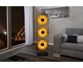Moderná dizajnová stojaca lampa Studio čierno-zlatá