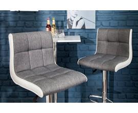 Dizajnová barová stolička  Modena 90-115cm šedo-biela