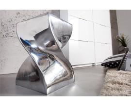 Extravagantná moderná stolička Twist 45cm strieborná