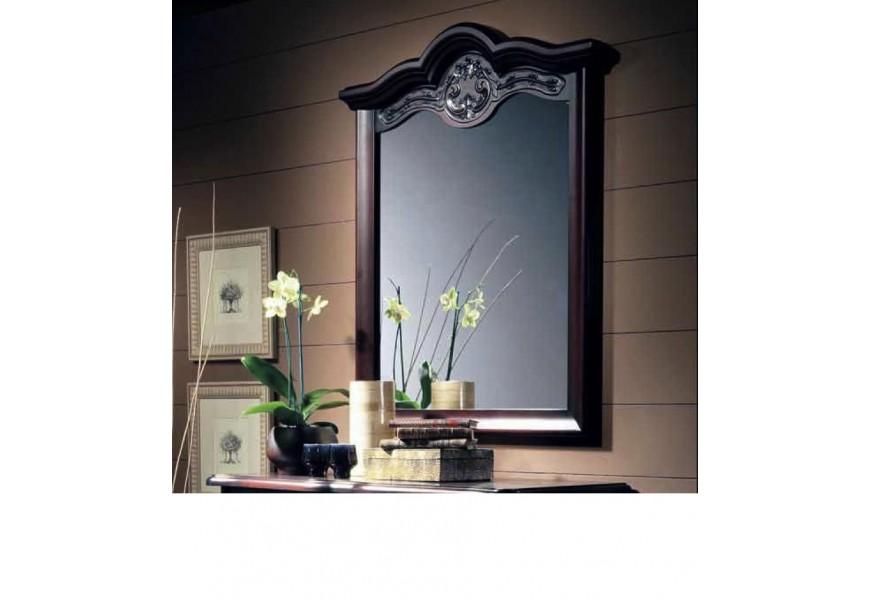 Rustikálne luxusné obdĺžnikové zrkadlo Nuevas formas s klenutým rámom 106cm