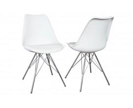 Dizajnová Stolička Scandinavia retro biela
