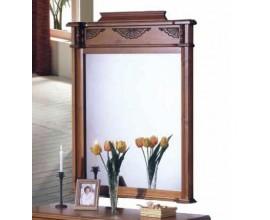 Rustikálne exkluzívne obdĺžnikové zrkadlo Nuevas formas s vyrezávaným motívom 122cm
