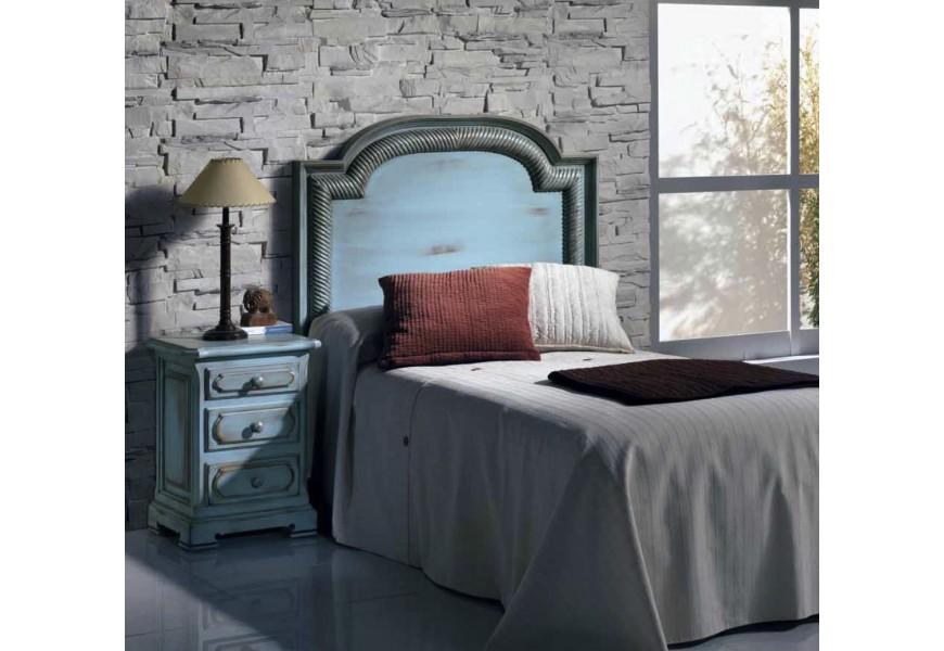 Luxusné rustikálne čelo postele Nuevas formas z dreva s vyrezávaním