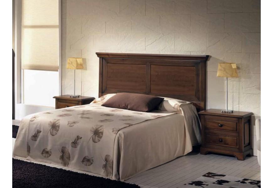 Elegantné luxusné zadné čelo postele Nuevas formas z dreva s vyrezávanými prvkami