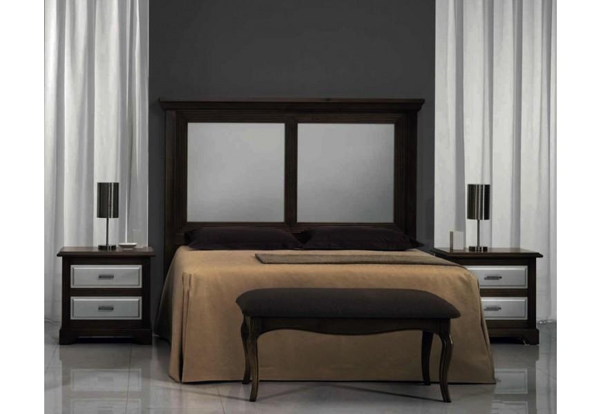 Exkluzívne zadné čelo postele Nuevas formas z dreva obdĺžnikového tvaru